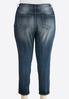 Plus Extended Faded Skinny Ankle Jeans alternate view