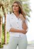 Plus Size White Denim Jacket alternate view