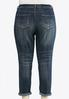Plus Petite Distressed Girlfriend Ankle Jeans alternate view