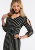 Plus Size Stripe Slit Sleeve Jumpsuit alternate view