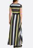 Plus Size Golden Stripe Maxi Dress alternate view