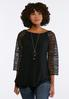 Floral Lace Sleeve Top alternate view