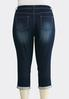 Plus Size Cropped Skinny Jeans alternate view