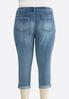 Plus Size Shape Enhancing Skinny Cropped Jeans alternate view