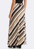 Plus Size Striped Hacci Maxi Skirt alternate view