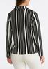 Vertical Stripe Knit Blazer alternate view