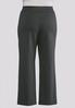 Plus Size Striped Pull- On Trouser Pants alternate view