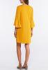 Plus Size Flounce Sleeve Swing Dress alternate view