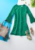 Pleated Bell Sleeve Dress alternate view