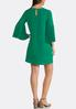 Plus Size Pleated Bell Sleeve Dress alternate view