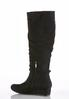 Wide Width Faux Suede Wedge Boots alternate view