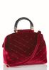 Pin Stud Quilted Satchel alternate view