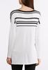 Plus Size Stripe Pullover Sweater alternate view