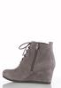Lace Up Faux Suede Wedge Booties alternate view