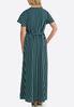 Plus Size Striped Flutter Sleeve Maxi Dress alternate view