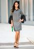 Dotted Stripe Bell Sleeve Dress alternate view