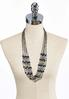 Multi Row Beaded Layered Necklace alternate view