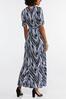 Plus Size Printed Faux Wrap Maxi Dress alternate view