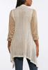 Plus Size Draped Waterfall Sweater Vest alternate view