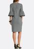 Plus Size Gingham Bell Sleeve Dress alternate view