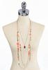 Stone Pendant Layered Beaded Necklace alternate view