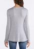 Heather Gray Lace Overlay Top alternate view