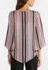 Plus Size Embellished Stripe Top alternate view