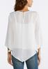 Plus Size Embellished Pointed Hem Top alternate view