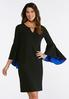 Exaggerated Bell Sleeve Dress alternate view