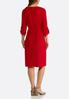 Plus Size Red Knit Shirt Dress alternate view