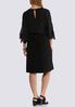 Plus Size Tie Slit Blouson Sleeve Dress alternate view