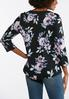 Floral Print Split Neck Top alternate view
