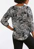 Plus Size Silver Ring Printed Pullover Top alternate view