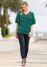 Plus Size Solid Bengaline Ankle Pants alternate view