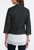 Plus Size Cropped Denim Blazer alternate view