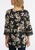 Plus Size Ivory Floral Lace Sleeve Top alternate view