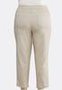 Plus Size Pull- On Ankle Pants alternate view