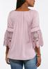 Plus Size Lace Sleeve Convertible Poet Top alternate view