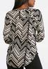 Plus Size Neutral Chevron Top alternate view