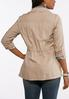 Plus Size Cinched Waist Utility Jacket alternate view