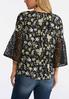 Plus Size Floral Lace Sleeve Poet Top alternate view
