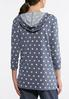Plus Size Polka Dotted Hoodie alternate view