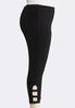 Plus Size Cutout Lattice Cropped Leggings alternate view