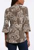 Layered Floral Stripe Top alternate view