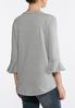 Plus Size Casual Flounced Sleeve Top alternate view
