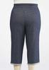 Plus Size Navy French Terry Cropped Pants alternate view