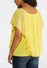 Plus Size Layered Sheer Capelet Top alternate view