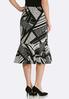 Plus Size Flounced Geo Print Skirt alternate view