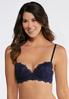 Navy Lace And Aqua Bra Set alternate view