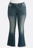 Plus Size Floral Rhinestone Jeans alternate view